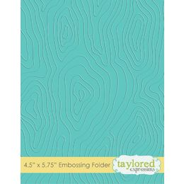 Taylored Expressions Embossing Folder - Woodgrain - TEEF17