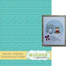 Taylored Expressions Embossing Folder - Nordic Holiday TEEF37