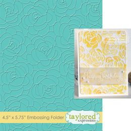 Taylored Expressions Embossing Folder - Rosy Posey - TEEF47