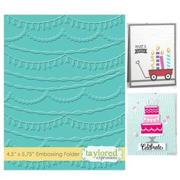 Taylored Expressions Embossing Folder - Streamers - TEEF54