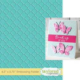 Taylored Expressions Embossing Folder - Quatrefoil - TEEF60