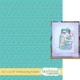 Taylored Expressions Embossing Folder - Loopy Loops - TEEF62