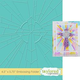 Taylored Expressions Embossing Folder - Redeemer - TEEF64