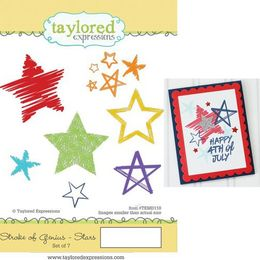 Taylored Expressions Stamps - Stroke of Genius - Stars - TEMD110