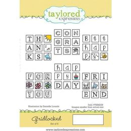 Taylored Expressions Stamps - Gridlocked - TEMD39