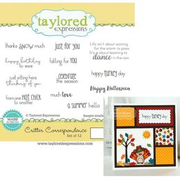 Taylored Expressions Stamps - Critter Correspondence - TEMS100