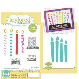 Taylored Expressions Stamps - Make a Wish with Coordinating Dies - TEPS198