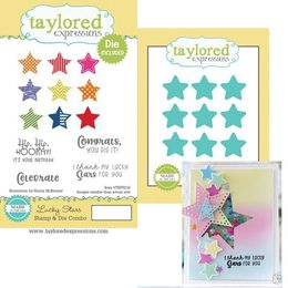 Taylored Expressions Stamps - Lucky Stars with Coordinating Dies - TEPS216