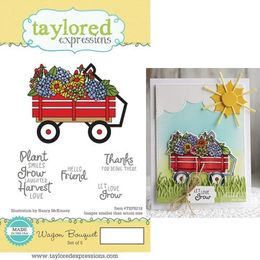 Taylored Expressions Stamps - Wagon Bouquet - TEPS218