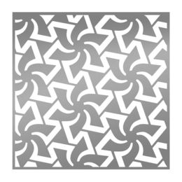 Ultimate Crafts Stencils - L'Aquarelle Designs Collection - Spinning Pinwheels ULT157803