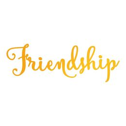 Ultimate Crafts Heatfoil Stamp - Classic Sentiments Collection - Friendship ULT158115