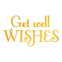 Ultimate Crafts Heatfoil Stamp - Classic Sentiments Collection - Get Well Wishes ULT158118