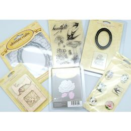 Ultimate Crafts - Rambling Roses BUNDLE KIT #3 RRP$80 - Dies, Stamps, & Embellishment