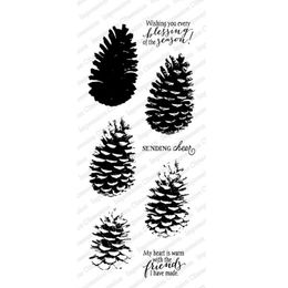 Impression Obsessions Clear Stamps - Layered Pinecone WP883