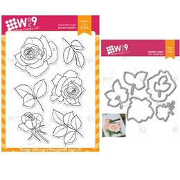 Wplus 9 Designs Dies & Stamps Bundle - Modern Roses