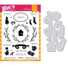 WPlus9 Design Dies & Stamps Set - Heartfelt Holiday
