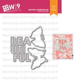 WPlus9 Design Dies - Beautiful Butterflies WPLN-0214