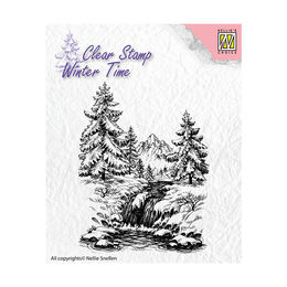 Nellie Snellen Clear Stamps Winter Time - Winter Waterfall WT004