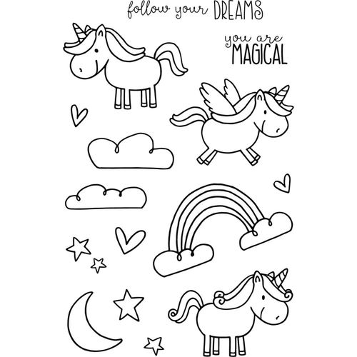 Jane's Doodles Clear Stamps - Unicorn 742910