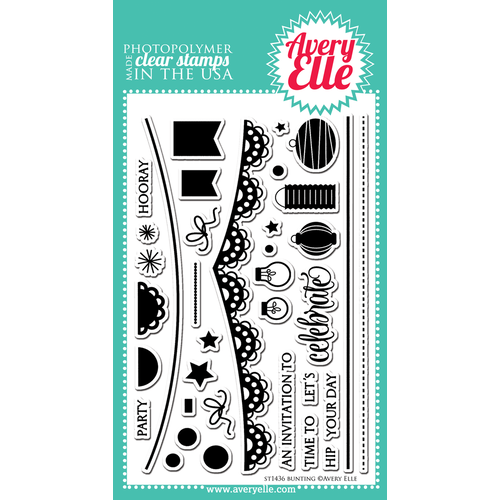 Avery Elle Clear Stamp - Bunting AE1436