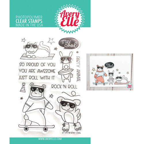 Avery Elle Clear Stamp - Stay Cool AE2019