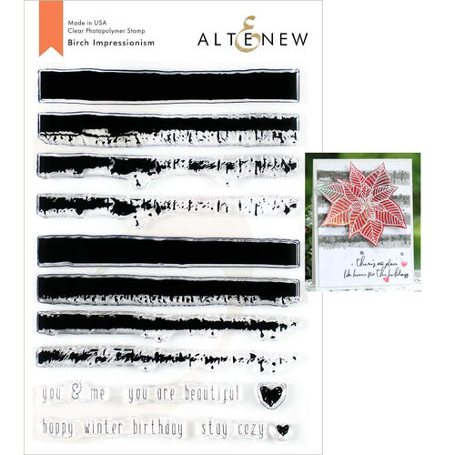 Altenew Clear Stamps - Birch Impressionism ALT3478