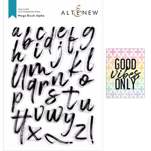 Altenew Clear Stamps - Mega Brush Alpha ALT4129