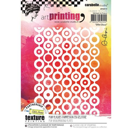 Carabelle Studio Art Printing A6 Rubber Texture Plate - Effet Disco