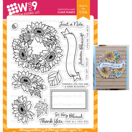WPlus9 Design Stamps - Autumn Blessings CL-WP9AB