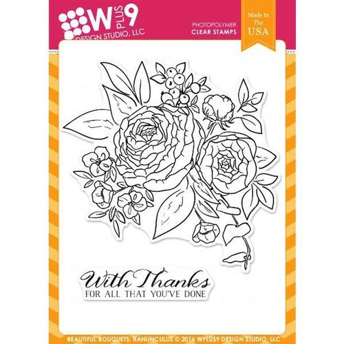 WPlus9 Design Stamps - Beautiful Bouquet: Ranunculus CL-WP9BBR
