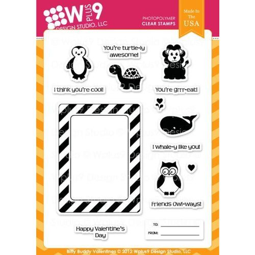 WPlus9 Design Stamps - Bitty Buddy Valentines CL-WP9BBV