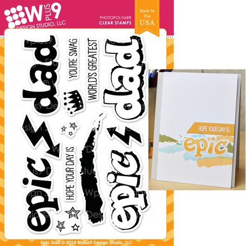 WPlus9 Design Stamps - Epic Dad CL-WP9ED