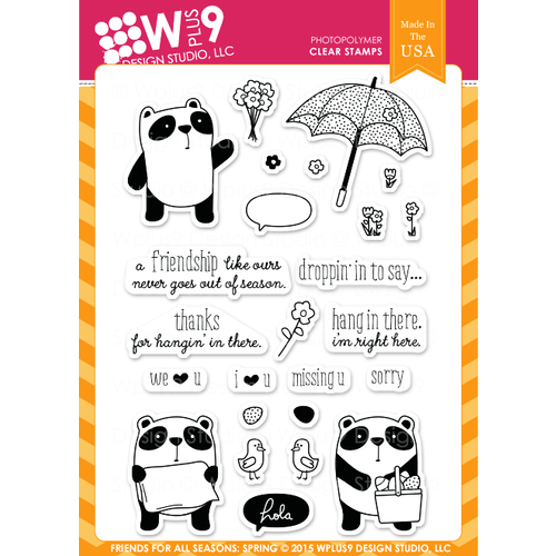 WPlus9 Design Stamps - Friends For All Seasons: Spring CL-WP9FFSS