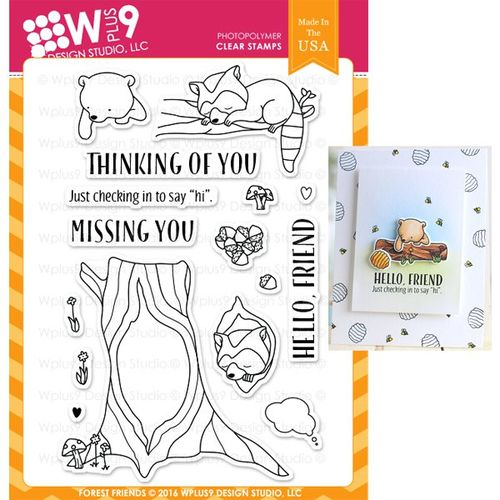WPlus9 Design Stamps - Forest Friends CL-WP9FOFR