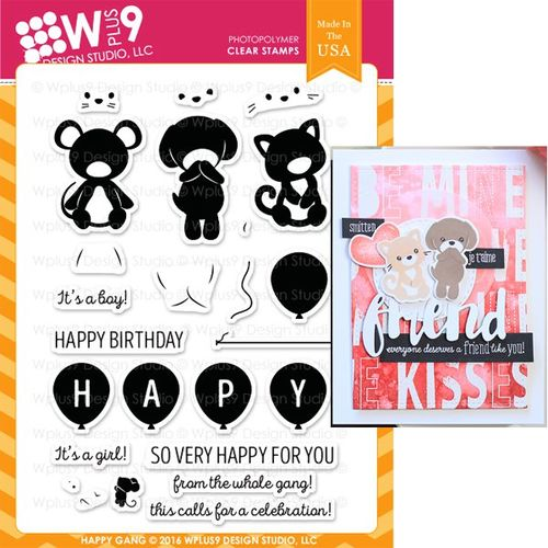 WPlus9 Design Stamps - HAPPY GANG CL-WP9HG