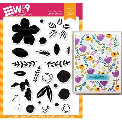 WPlus9 Design Stamps - Southern Summer Florals 2 CL-WP9SSF2