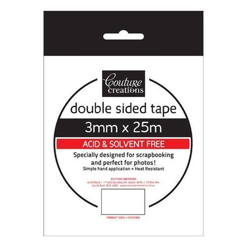 Couture Creations - Double Sided 3mm x 25 m Tape CO721983