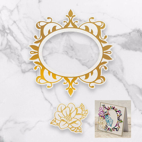Cut, Foil and Emboss Decorative Nesting Die - Magnolia Frames (113.9 x 118.1mm)