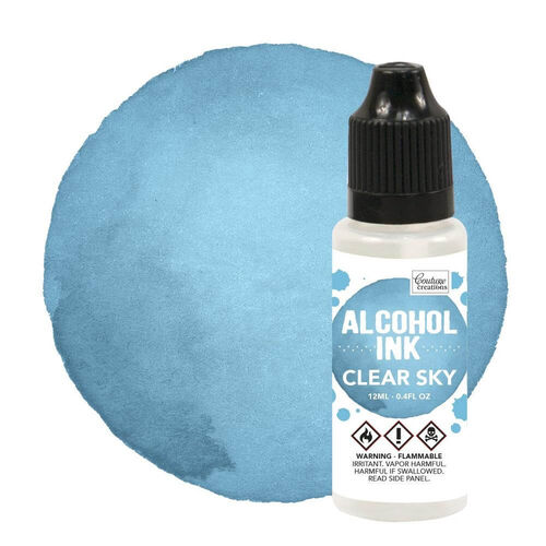 Couture Creations Alcohol Ink - Aqua / Clear Sky (12ml) CO727299