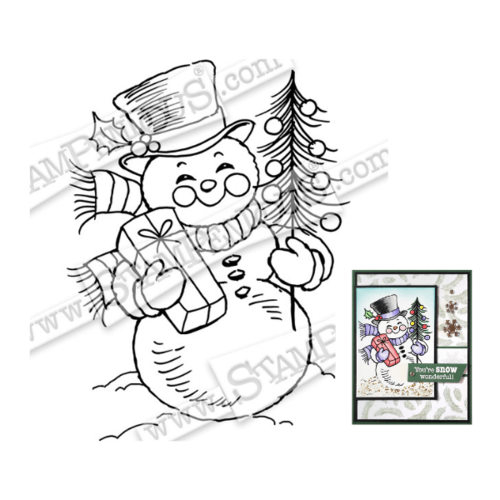 Stampendous Cling Stamp - Snowman Smile