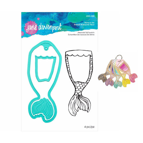 Jane Davenport Artomology Stamp & Die Set - Mermaid Tail Swatch