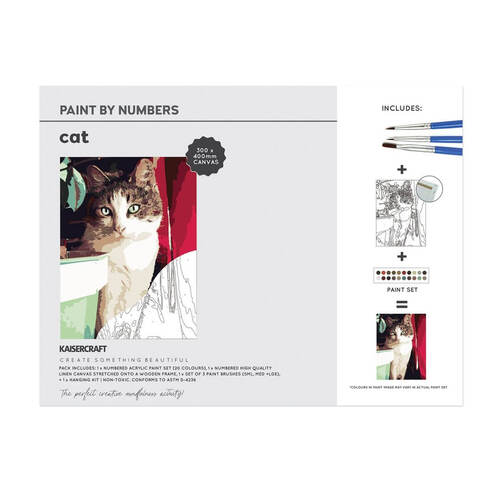 Kaisercraft Paint By Numbers 30x40cm - Cat CA233