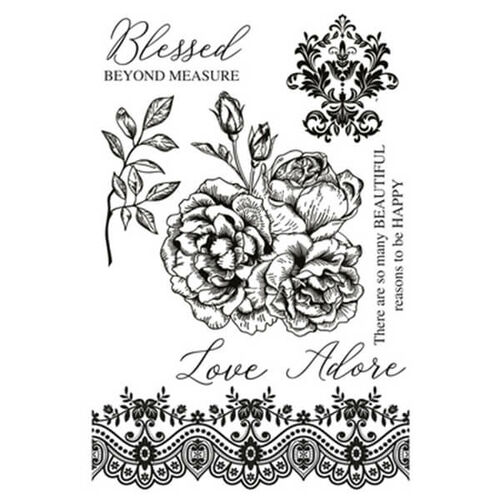 Kaisercraft Clear Stamp - Rosabella CS346