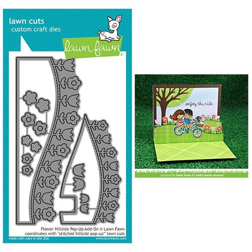 Lawn Fawn - Lawn Cuts Dies - Flower Hillside Pop-Up Add-On LF1369