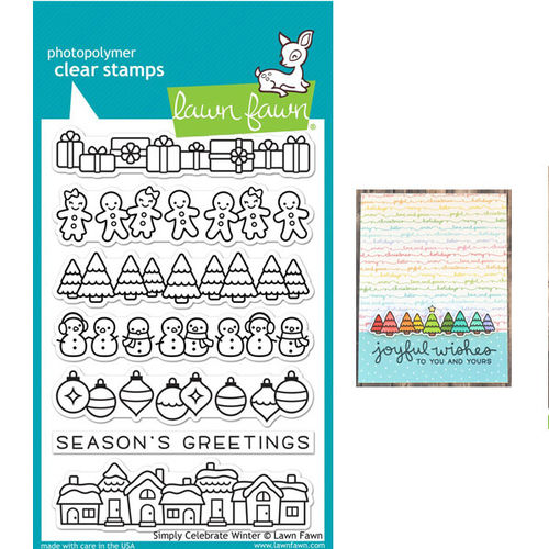 Lawn Fawn - Clear Stamps - Simply Celebrate Winter LF1769
