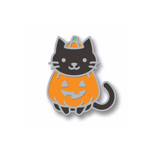 Lawn Fawn - Cat-O'-Latern Enamel Pin LF2012
