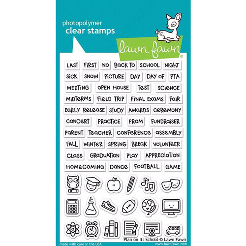 Lawn Fawn - Clear Stamps - Plan On It: School LF2040