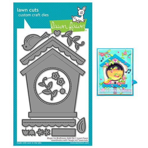 Lawn Fawn - Lawn Cuts Dies - Magic Iris Birdhouse Add-On LF2471