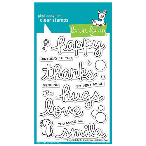 Lawn Fawn - Clear Stamps - Scripty Bubble Sentiments LF2502