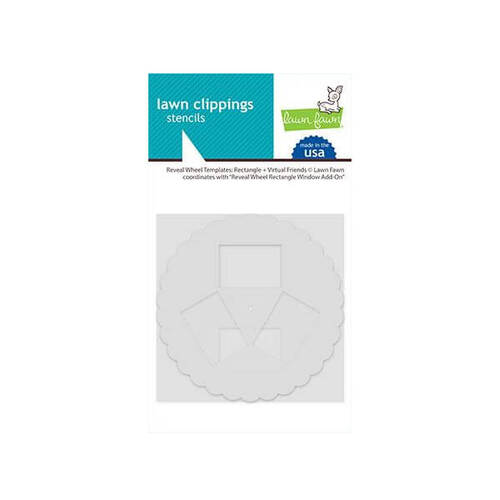 Lawn Fawn Stencils - Reveal Wheel Templates: Rectangle + Virtual Friends LF2521